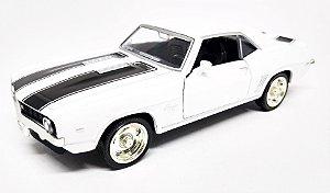 Chevrolet Camaro SS 1969 Branco - Escala 1/38 - 12 CM