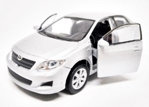 Toyota Corolla Prata - ESCALA 1/43 - 12 CM