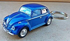 Volkswagen Fusca Azul - Chaveiro - Escala 1/64 - 06 CM