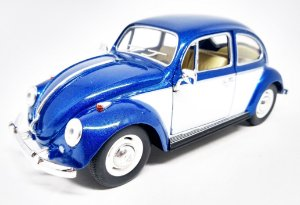 Volkswagen Fusca Azul 1967 - Escala 1/24 - 17 CM
