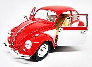 Volkswagen Fusca Vermelho 1967 - Escala 1/24 - 17 CM
