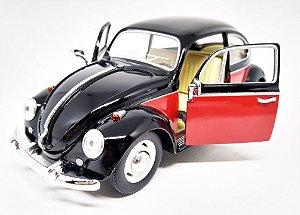 Volkswagen Fusca Preto 1967 - Escala 1/24 - 17 CM