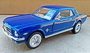 Ford Mustang 1964 Azul - Escala 1/36 - 12 CM