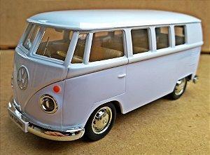 Volkswagen Kombi 1962 Bege/Branca - Escala 1/32 - 13 CM