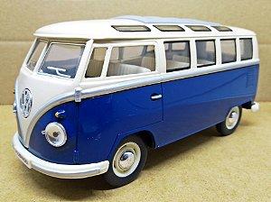 Volkswagen Kombi Azul 1962 - Escala 1/24 - 17 CM