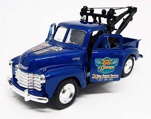 Chevrolet 3100 Guincho 1953 Azul - Escala 1/38 12 CM
