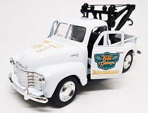 Chevrolet 3100 Guincho 1953 Branco - Escala 1/38 12 CM