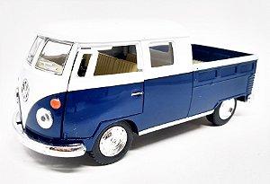Volkswagen Kombi 1962 AzulEscuro/Branca - Escala 1/32 - 13 CM