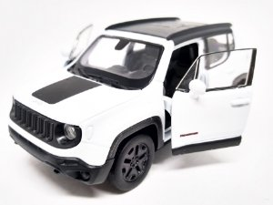 Jeep Renegade 2017 Branco - Escala 1/32 12 CM
