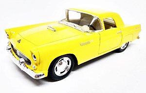 Ford Thunderbird 1955 Amarelo - Escala 1/36 - 12 CM