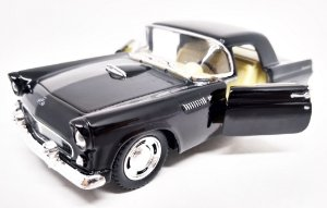 Ford Thunderbird 1955 Preto - Escala 1/36 - 12 CM