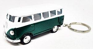 Volkswagen Kombi Verde - Chaveiro - Escala 1/64 - 06 CM