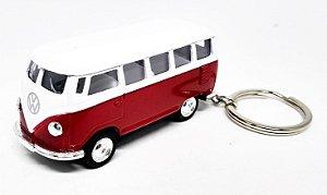 Volkswagen Kombi Vermelho - Chaveiro - Escala 1/64 - 06 CM