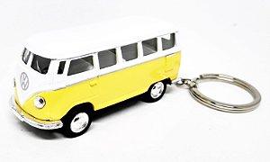Volkswagen Kombi Amarelo - Chaveiro - Escala 1/64 - 06 CM