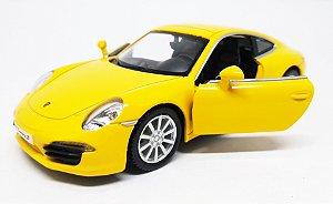 Porsche 911 Carrera S Amarelo - Escala 1/32 13 CM