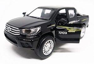 Toyota Hilux 4x4 Preta - Escala 1/38 13 CM