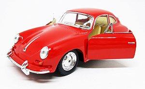Porsche 356 B Carrera Vermelho - ESCALA 1/38- 12 CM