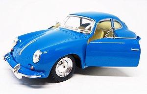 Porsche 356 B Carrera Azul - ESCALA 1/38- 12 CM