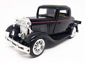 Ford 3 Window 1932 Coupé Preto - Escala 1/32 - 12 CM