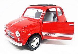 Fiat 500 Vermelho - Escala 1/24 - 12 CM