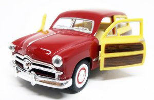 Ford Woody Wagon 1949 Vinho - Escala 1/40 13 CM