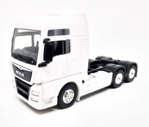 MAN TGX Trucado Branco - Escala 1/64 - 11 CM
