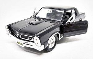 Pontiac GTO 1965 Preto - Escala 1/38 12 CM