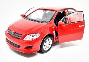 Toyota Corolla Vermelho - ESCALA 1/43 - 12 CM