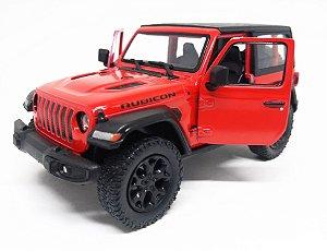 Jeep Wrangler Rubicon Vermelho - Escala 1/38 - 12 Cm