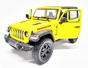 Jeep Wrangler Rubicon Amarelo - Escala 1/38 - 12 Cm