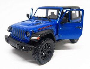 Jeep Wrangler Rubicon Azul - Escala 1/38 - 12 Cm