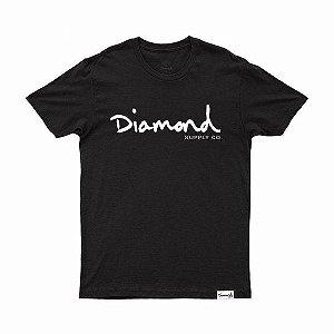 Camiseta Diamond Og Script tee Black