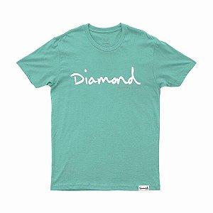 Camiseta Diamond Og Script tee Blue