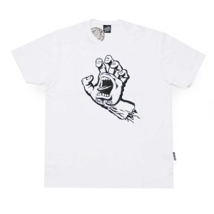 Camiseta Santa Cruz Scraming Hand White