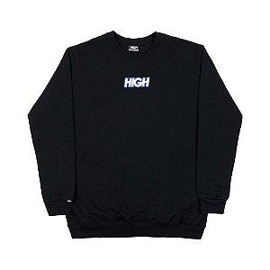 Moletom High Company Logo Colored Black