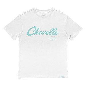 Camiseta Diamond Chevelle White Collab Chevrolet