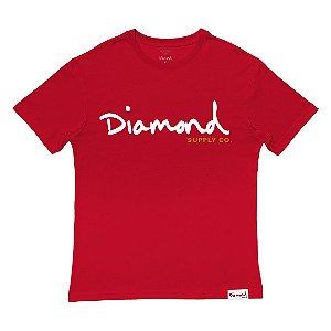 Camiseta Diamond OG Script Red