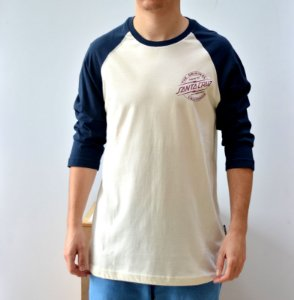 Camiseta Santa Cruz Bolt Baseball 3/4