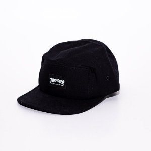 Boné 5 panel Thrasher logo black