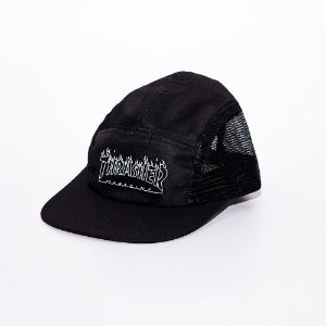 Boné 5 panel Thrasher Flame Outline Black