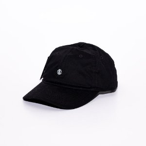 Boné 6 panel Element mini logo Black
