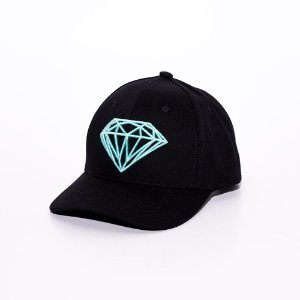 Boné Aba Curva Baseball Diamond Supply logo Black
