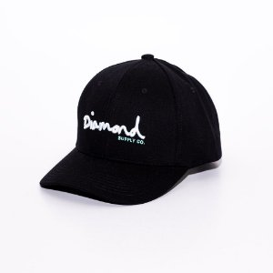 Boné Aba Curva Baseball Diamond Supply co. logo black