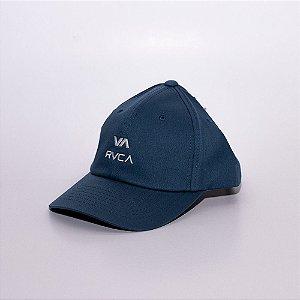 Boné Aba Curva Baseball RVCA logo bordada azul