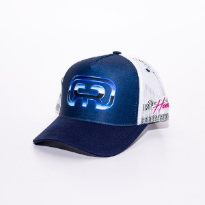 Boné Trucker Hocks logo Azul