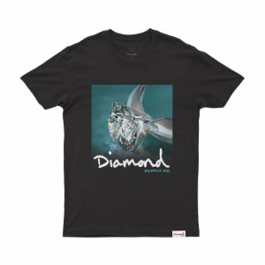 T-SHIRT DIAMOND SHIMMER TEE BLACK