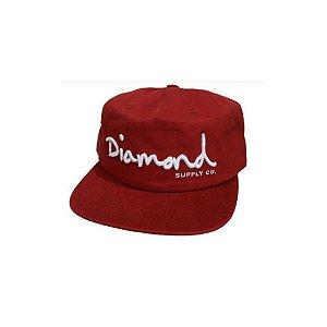 BONÉ DIAMOND OG SCRIPT RED