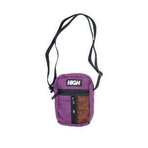 Shoulder Bag Side Block Wine/Orange