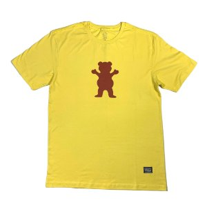 CAMISETA DIAMOND OG BEAR LOGO AMARELO