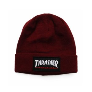 GORRO THRASHER MAGAZINE LOGO PATCH VINHO
